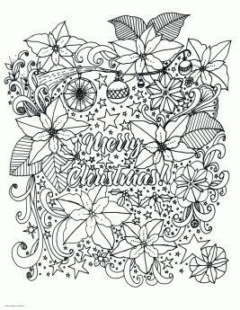 Adult Christmas Coloring Pages to Print Merry Christmas ndl5