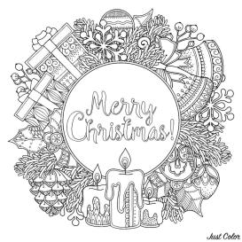 Adult Christmas Coloring Pages wrt3