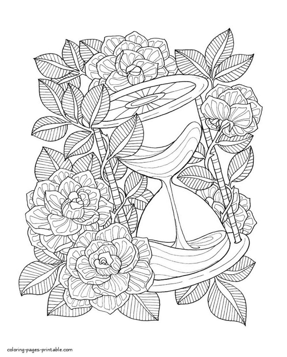 Adult Coloring Pages Floral Patterns Printable jgl7