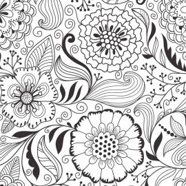 Adult Coloring Pages Patterns Flowers adc4