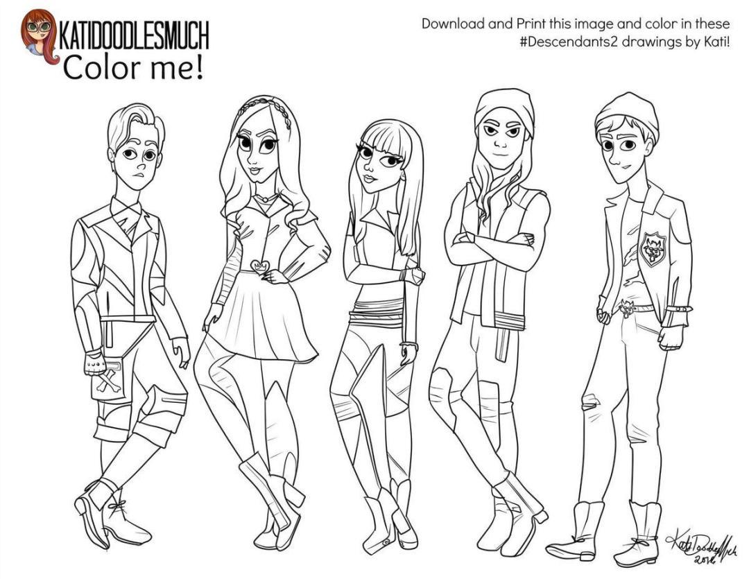 Get This Descendants Coloring Pages Online 24gh24 !