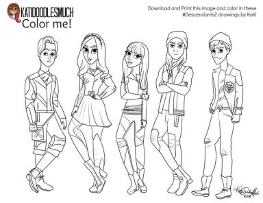 Descendants Coloring Pages Online 9gh0