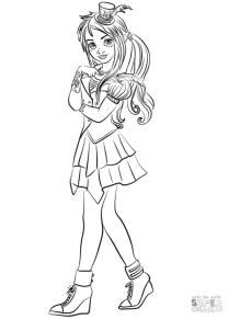 Descendants Coloring Pages for Girls hjk6