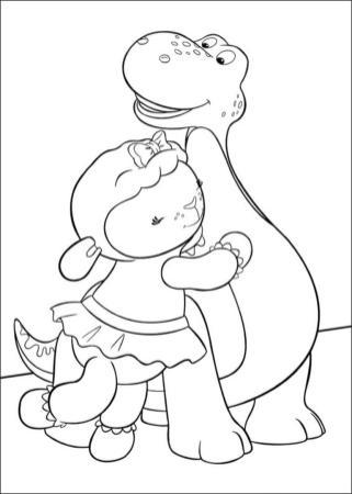 Doc McStuffins Coloring Pages Free hug2