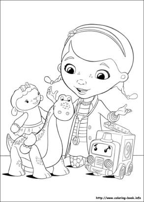 Doc McStuffins Coloring Pages dns2