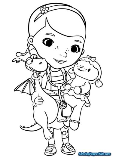 Doc McStuffins Coloring Pages for Girls crr3