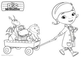 Doc McStuffins Coloring Pages for Girls crt4