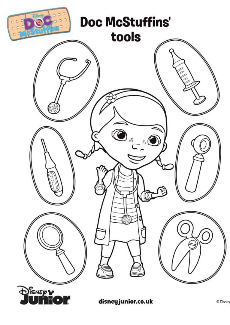 Doc McStuffins Coloring Pages to Print tol4