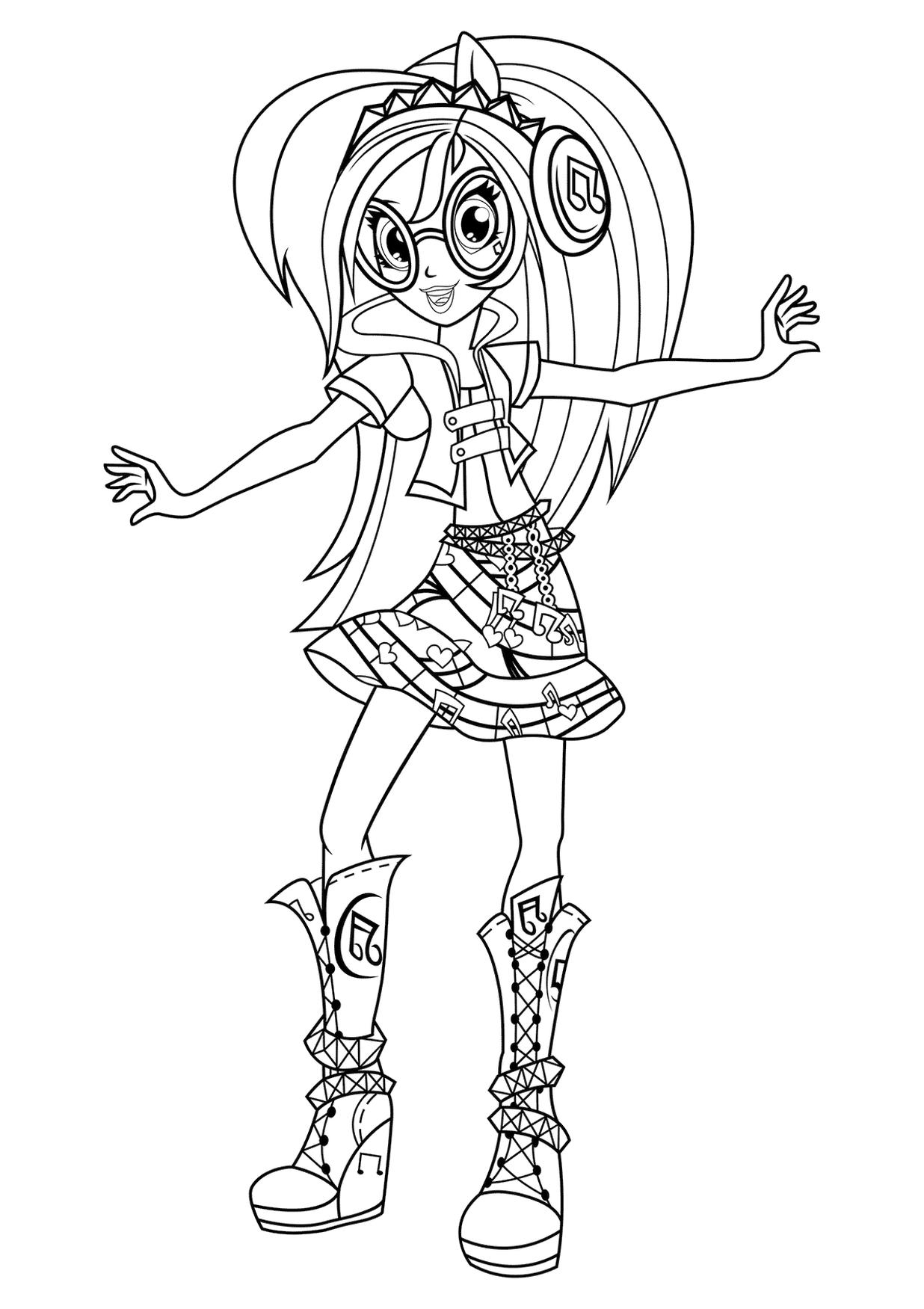 Equestria Girls Coloring Pages for Teen Girls
