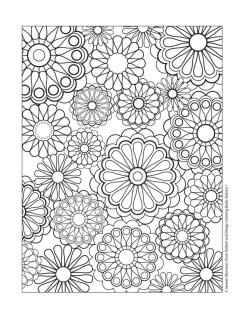 Floral Pattern Coloring Pages for Adult Free mbl7