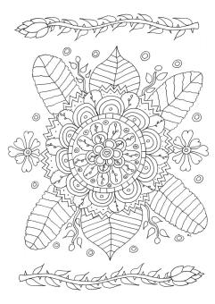 Flower Pattern Coloring Pages for Grown Ups uhv5