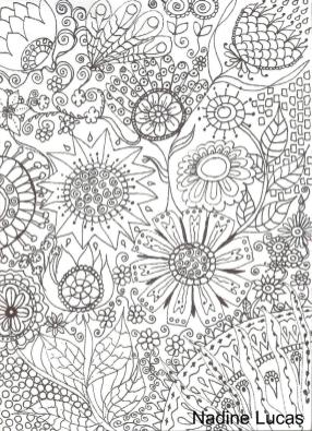 Flower Pattern Coloring Pages to Print for Adults tdv2