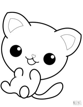 Kawaii Baby Animal Coloring Pages