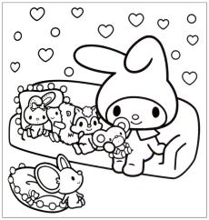 Kawaii Bunny Coloring Pages to Print