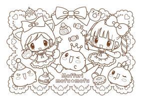 Kawaii Coloring Pages Adorable Anime Girl Printable
