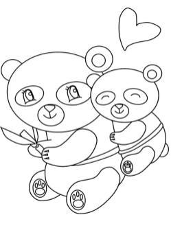 Kawaii Coloring Pages Bears Printable