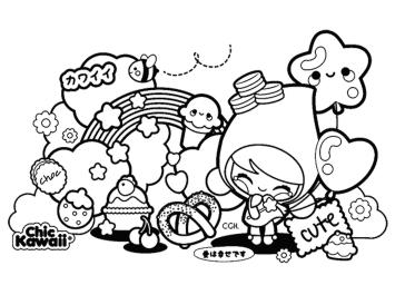 Kawaii Coloring Pages Online