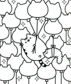 Kawaii Pusheen Cat Coloring Pages to Print