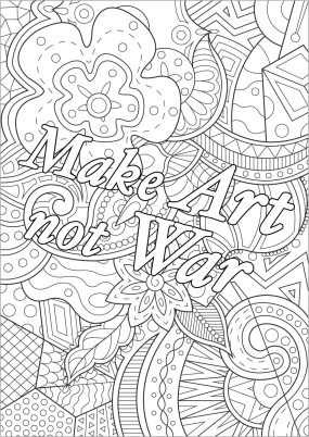 Printable Adult Coloring Pages Quotes Art