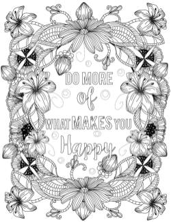 Printable Adult Coloring Pages Quotes Do More