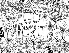 Printable Adult Coloring Pages Quotes Go For It
