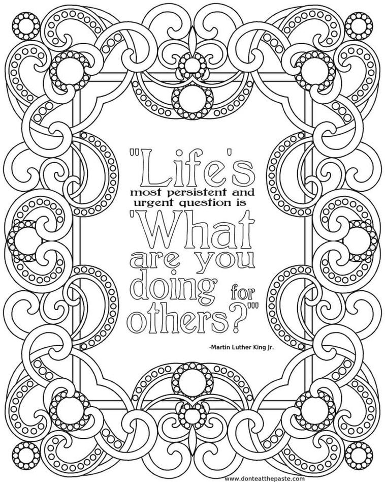Get This Printable Adult Coloring Pages Quotes Help Each Other !