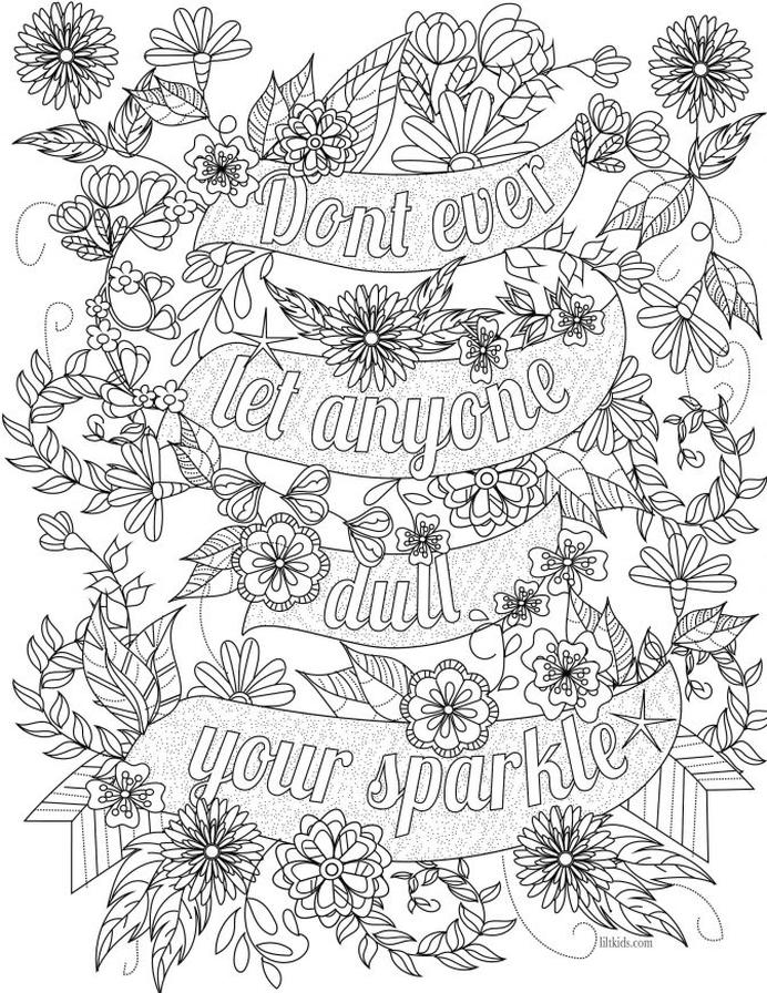 Get This Printable Adult Coloring Pages Quotes Inspirational !