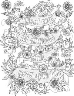 Printable Adult Coloring Pages Quotes Inspirational
