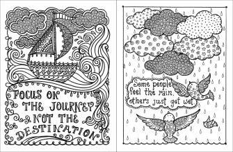 Printable Adult Coloring Pages Quotes Journey