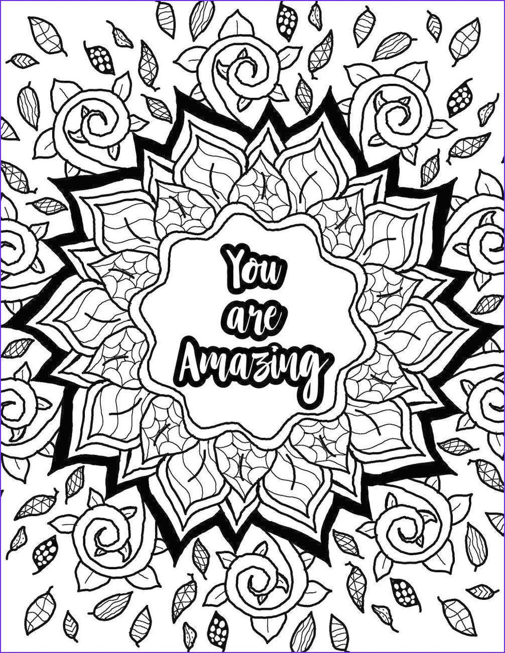 20 Free Printable Printable Adult Coloring Pages Quotes