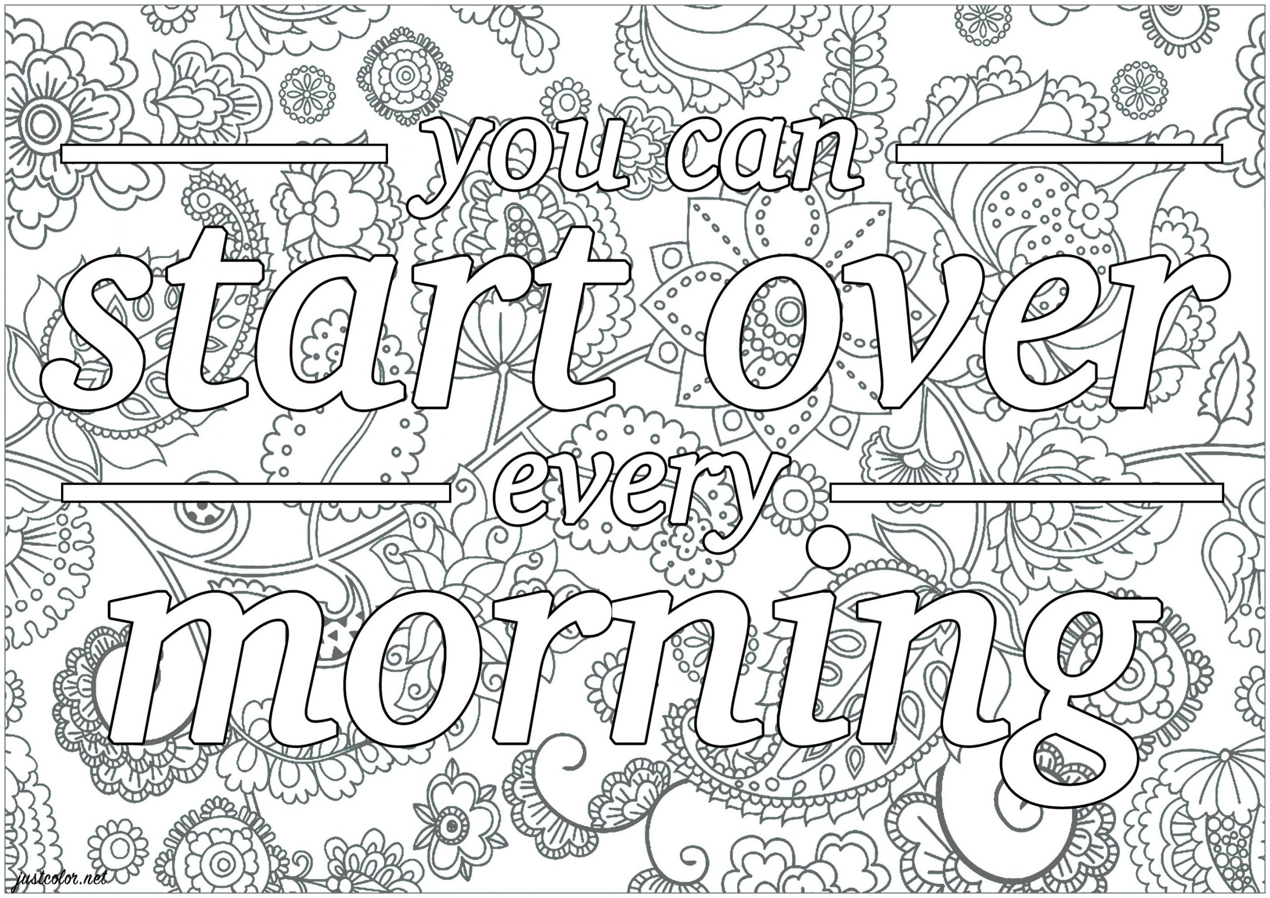 20+ Free Printable Printable Adult Coloring Pages Quotes -  EverFreeColoring.com