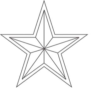 Star Coloring Pages Five Point Star