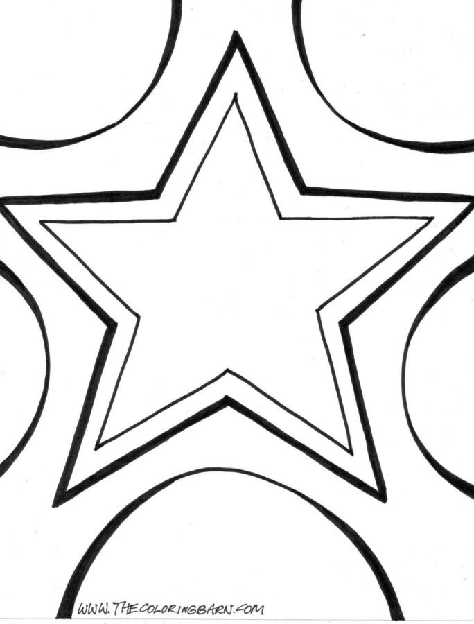 Star Coloring Pages Free Printable for Kids