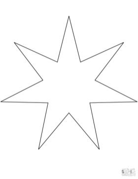 Star Coloring Pages Free
