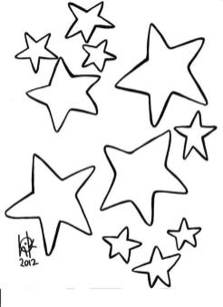 Star Coloring Pages Online Printable for Kids