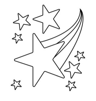 Star Coloring Pages Shooting Star Falling from the Sky
