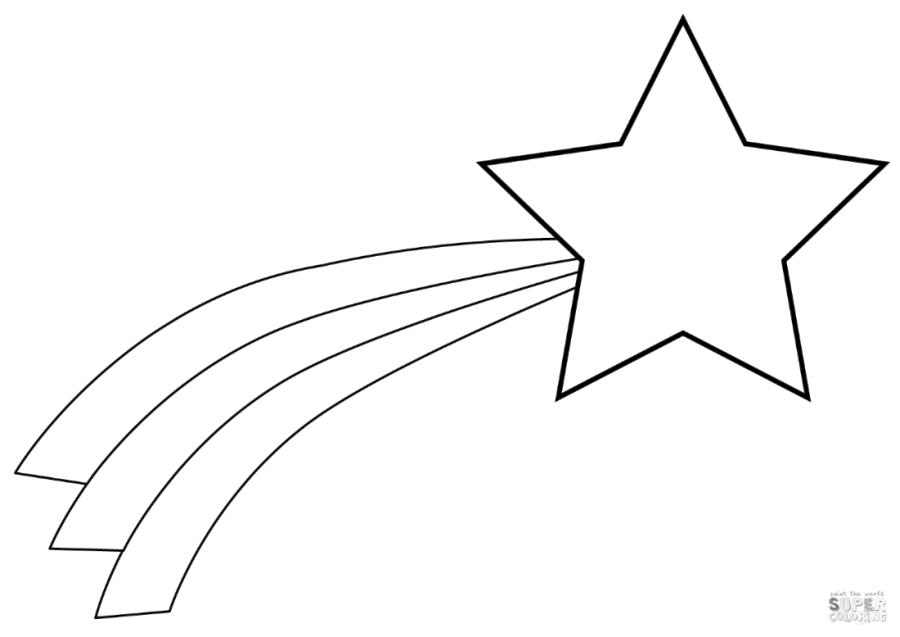 Star Coloring Pages for Toddlers