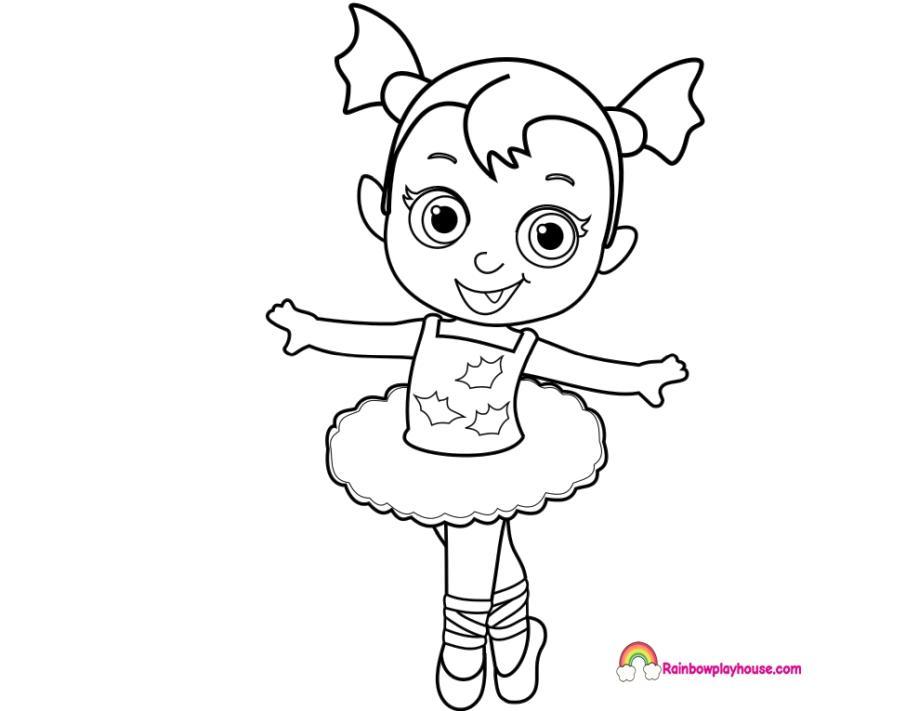Vampirina Coloring Pages Baby Vampirina in Ballet Costume