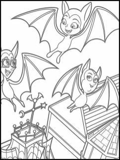 Vampirina Coloring Pages Bat Vampire Family
