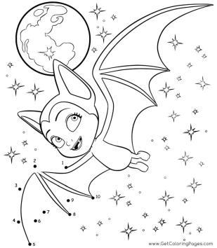 Vampirina Coloring Pages Vampirina Flying as Bat