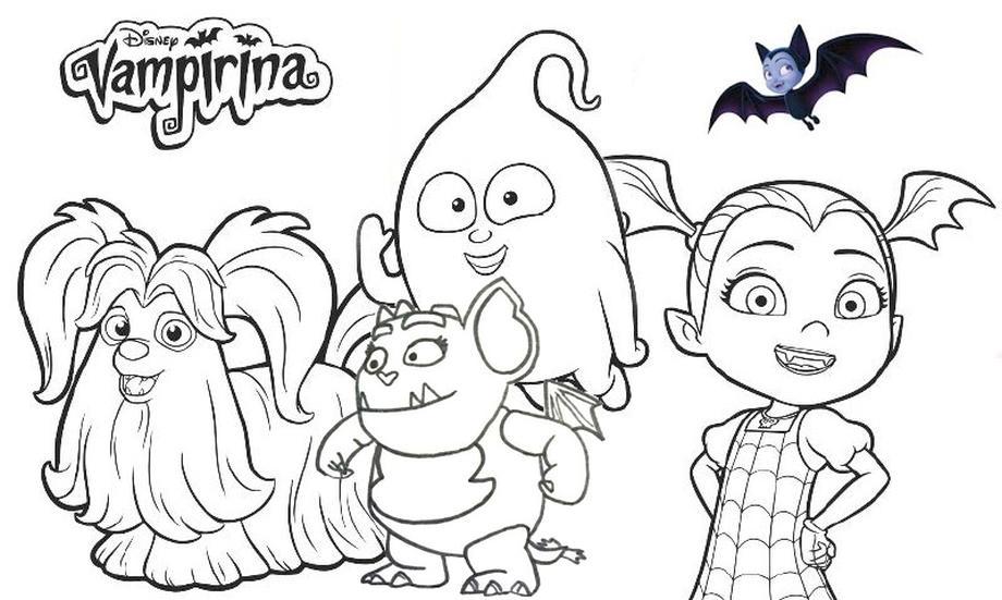 Get This Vampirina Coloring Pages Vampirina and Friends