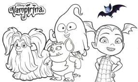 Vampirina Coloring Pages Vampirina and Friends