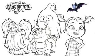 Vampirina Coloring Pages Vampirina and Friends