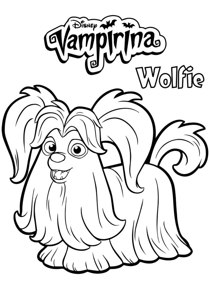 Vampirina Coloring Pages Wolfie the Dog