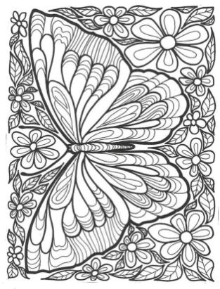 Adult Coloring Pages Patterns Butterfly 7uhb