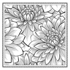 Adult Coloring Pages Patterns Lotus Flower 1drt