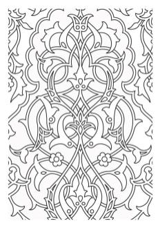 Adult Coloring Pages Patterns Medieval Tapestry 1rty