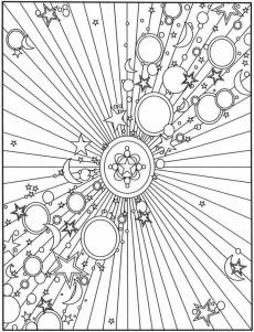 Adult Coloring Pages Patterns Moon and Stars 0ijk