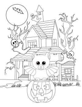 Halloween Beanie Boo Coloring Pages Printable 2vfg