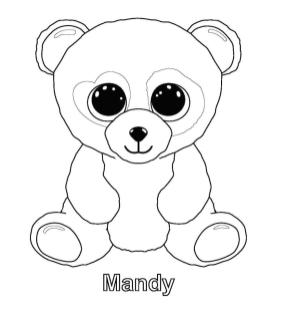 Mandy Beanie Boo Coloring Pages ujk1